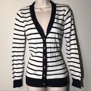 Forever 21 striped button up Cardigan